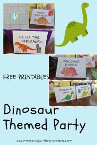 Dinosaur Themed Party - Free Printables